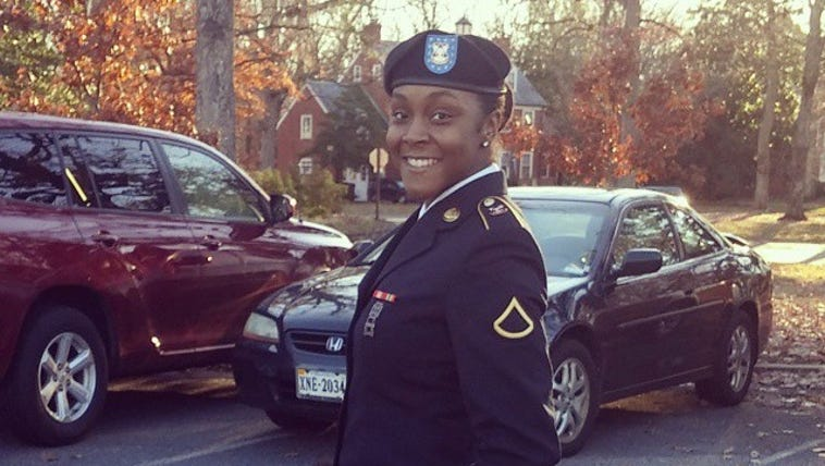 London Colvin, 21, a student and Army reservist is