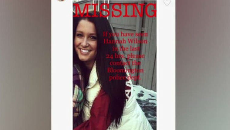 Pictured here is IU student Hanna Wilson whose body