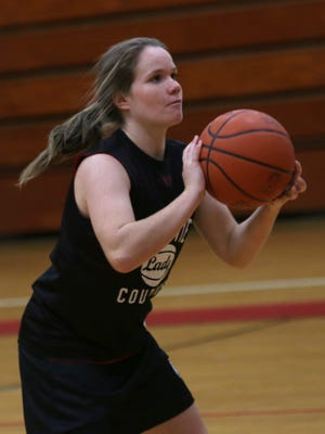 Jacqueline Baith moves the ball during practice at Crestview High School on Nov. 16.