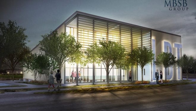 This is an artists' rendering of the new building that will house the Lafayette Ballet Theatre.