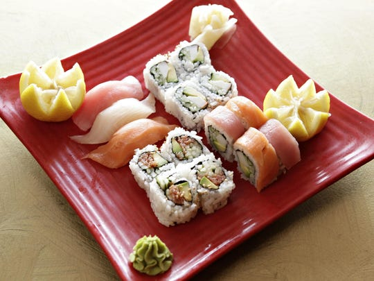 """The Bento """"A"""" Sushi box at Chef Ben Sushi and Asian Express in Goodyear."""