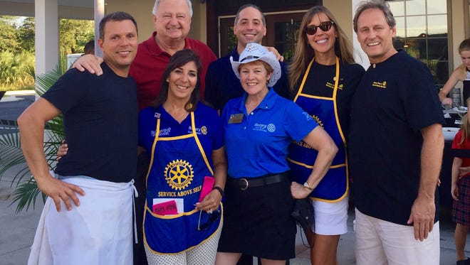 Rotary Club and District 6960 leaders at RocktOberfest 2016. Back row: Steven Slachta, Gerard Sola, Debra Perry, Rick Perry; and Front Row: Brian Gorman, Sandra Hemstead, and Bobbi Bird