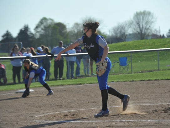 Hannah Messmer struck out 12 batters and allowed four hits.