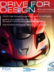 The official poster for FCA's 2017 Drive for Design