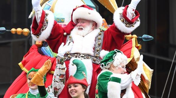 Santa Claus doing stuff