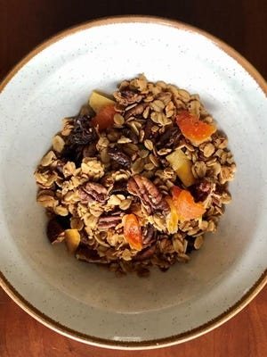 Homemade granola is delicious as a breakfast cereal, but it's also a fabulous topping for yogurt.