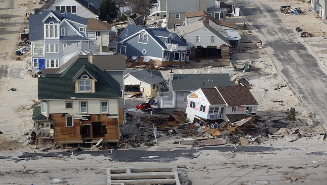 Homes in Ortley Beach, destroyed by superstorm Sandy, as seen in November 2012.