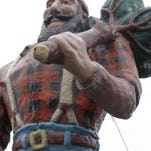Paul Bunyan in Oscoda, one of three in the state to make claim on the fictional character's birthplace.