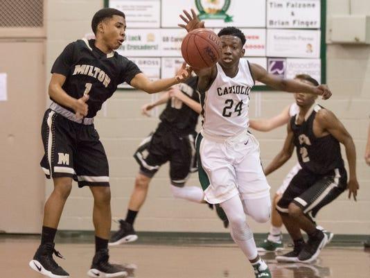 Milton vs. Catholic basketball