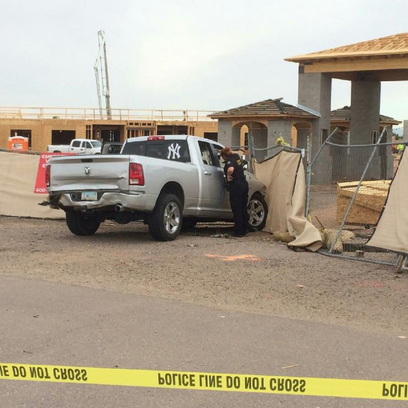 Truck used in chase and officer-involved shooting on