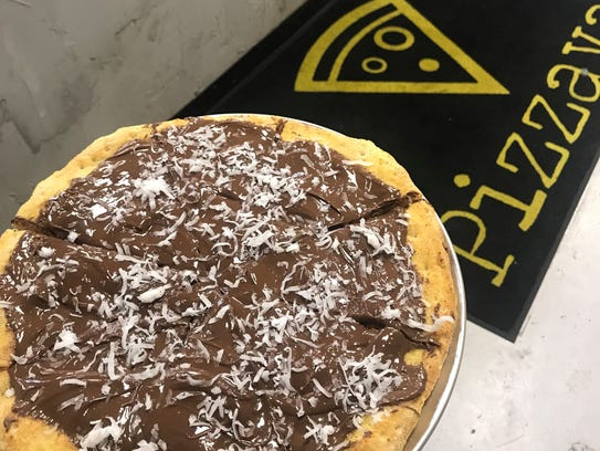 A Nutella pizza at the new Pizzava in Midtown Reno