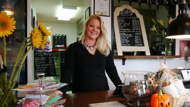 Rebecca Hannant owns Bloom and Bean flower and coffee shop at 1008 20th St. S.