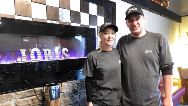 Lori and Jeff Nungesser, the owners of Jori's, opened the restaurant in December. The couple were serving from a food trailer before opening the permanent location.