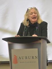 "Virginia ""Tilla"" Durr speaks during the 2015 Durr Lecture"