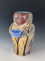 Ceramic art by Renee Schwaller, part of Exhibit III