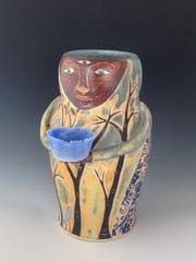Ceramic art by Renee Schwaller, part of Exhibit III at Fine Line Designs Gallery.