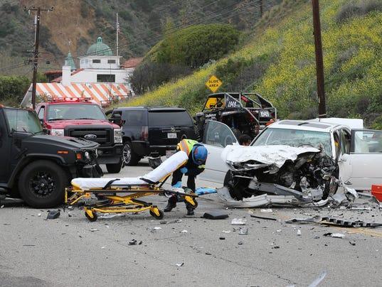 Bruce Jenner involved in a car crash on PCH in Malibu
