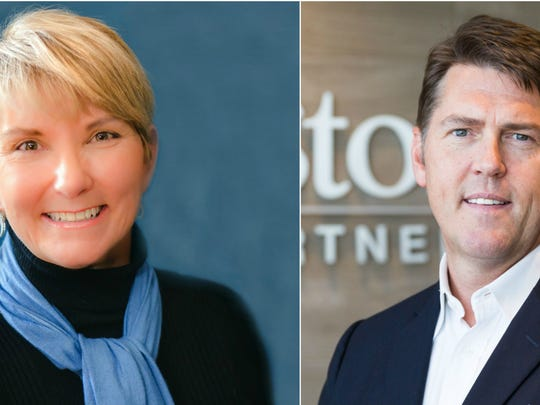 Gayle Jordan, left, and Shane Reeves are vying to replace former state Sen. Jim Tracy in the 14th Senate District.