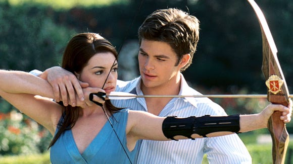 "Anne Hathaway and Chris Pine in a scene from the motion picture ""Princess Diaries 2: Royal Engagement."""