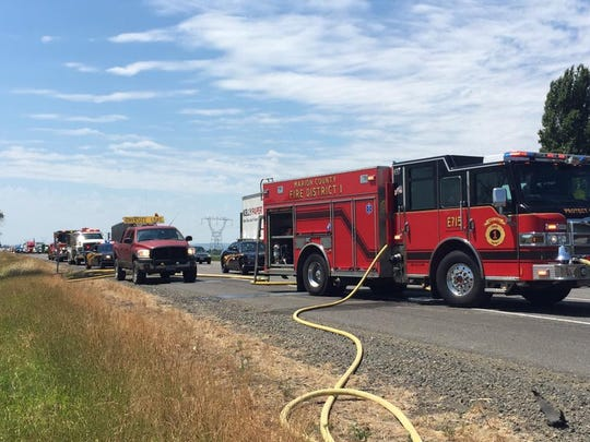 Marion County responds to tire fire under Concomly