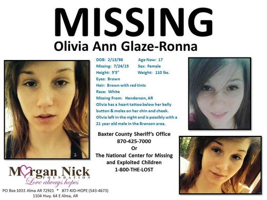 Olivia Ann Glaze posters up in Mountain Home