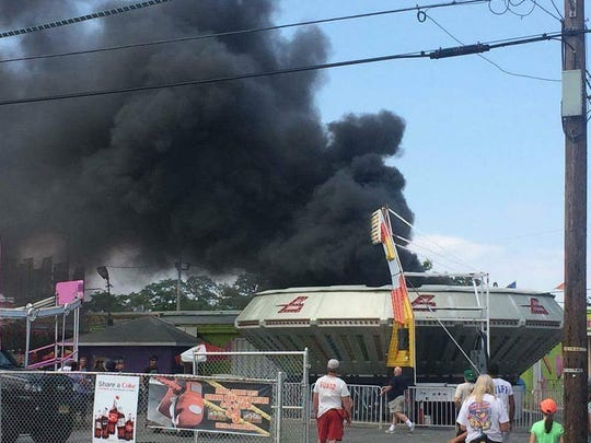 An electrical fire torched the interior of the Gravitron
