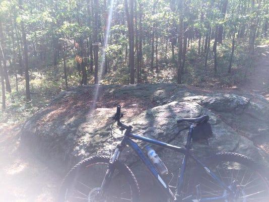 A biker's photo in memory of Ross Hansen