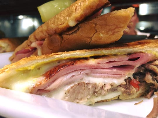 A traditional Cuban sandwich from Havana Central, which