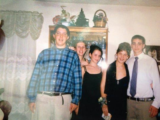 Jeff Springer (from left), Donna Hafner, Marcie Kaplan, Nicole Parodi and Chris Mauer before a school dance.