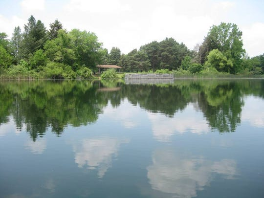 Fort Custer's three lakes are great for fishing.