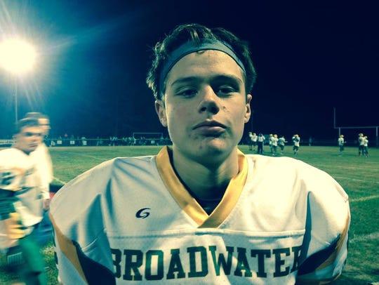 Broadwater senior quarterback, Austin Murphy.