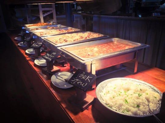Little Big Cup's boucherie brunch buffet includes options