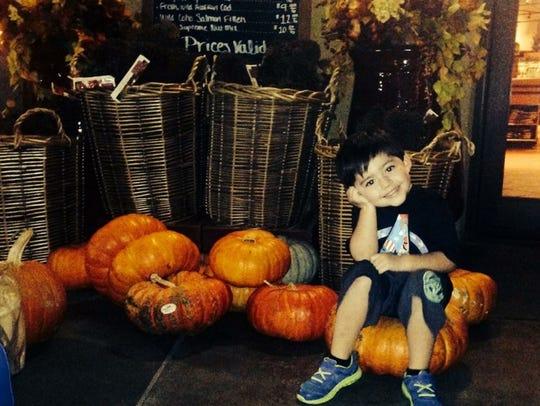 Dylan celebrates Halloween outside Fresh Market in