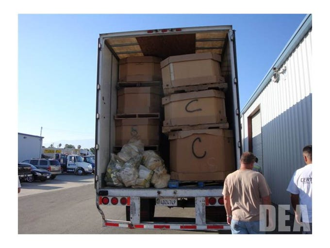 Nearly 20 tons of weed, cocaine and heroin were found