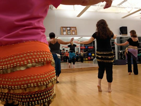 The jingling skirts that belly dancers serve a dual purpose when you're learning. In addition to looking cool, the noise helps you learn how to correctly do the moves.