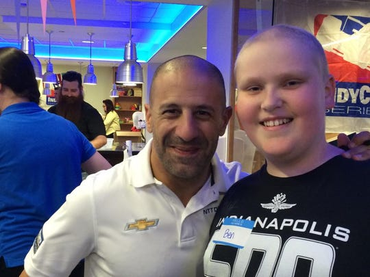 IndyCar driver Tony Kanaan was part of the racing community that rallied around Ben Burchard after his bone cancer diagnosis.