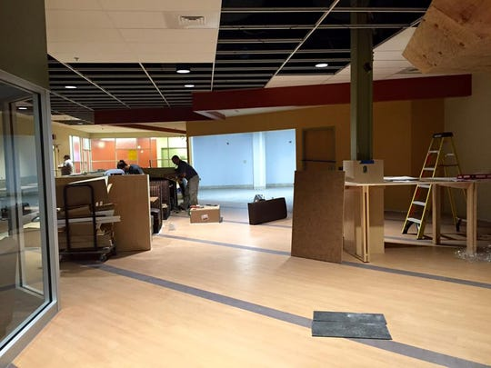 Work is underway at the student commons space at HACC York