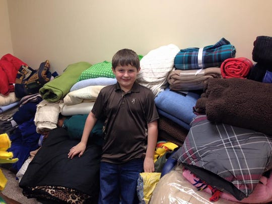 Eight-year-old Hunter Lenk has collected hundreds of