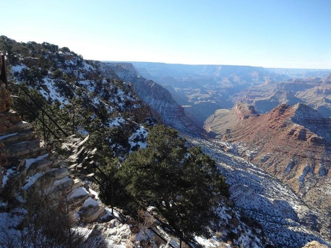 Snow at the Grand Canyon taken on Sunday, Dec. 27,