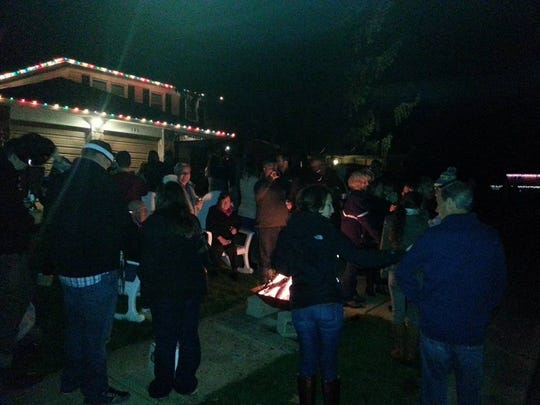 More than 200 people come out for the community celebration.
