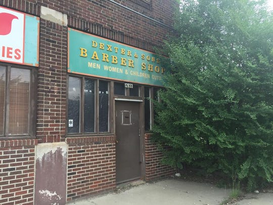 The former Dexter and Sons Barber Shop in East Cleveland,
