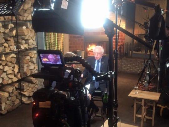Bernie Sanders at Hen of the Wood-Burlington, where