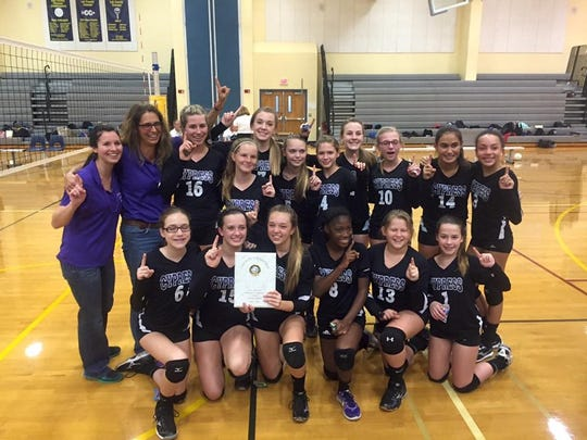Cypress Lake Middle School girls win the Lee County championship.