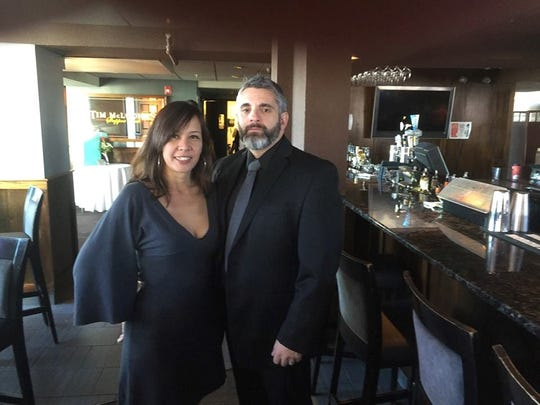 Tina Plantamura (with her husband Frank) is a happily