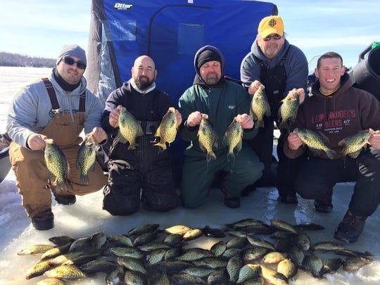 Nate Biguel's group with a nice catch in central Wisconsin