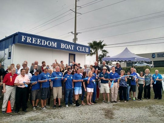 Freedom Boat Club franchise owners Chris and Lisa Kelly,