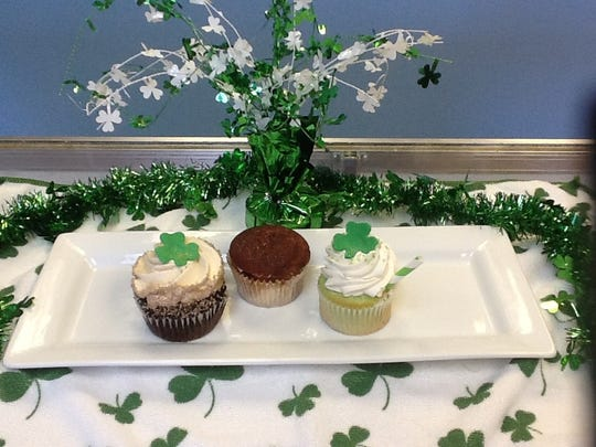 A trio of St. Patrick's Day cupcakes from JenniCakes in Toms River.