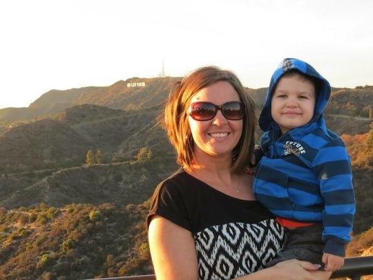Yoshi and his mom Kim in California.