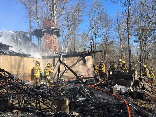A Woodbine, Carroll County home was destroyed by a