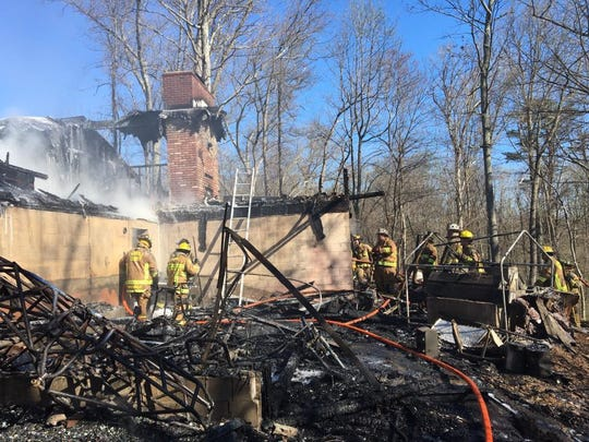 A Woodbine, Carroll County home was destroyed by a fire Sunday morning, according to a news release for the state fire marshal. No injuries were reported by the owners, but a dog and a cat died in the fire.